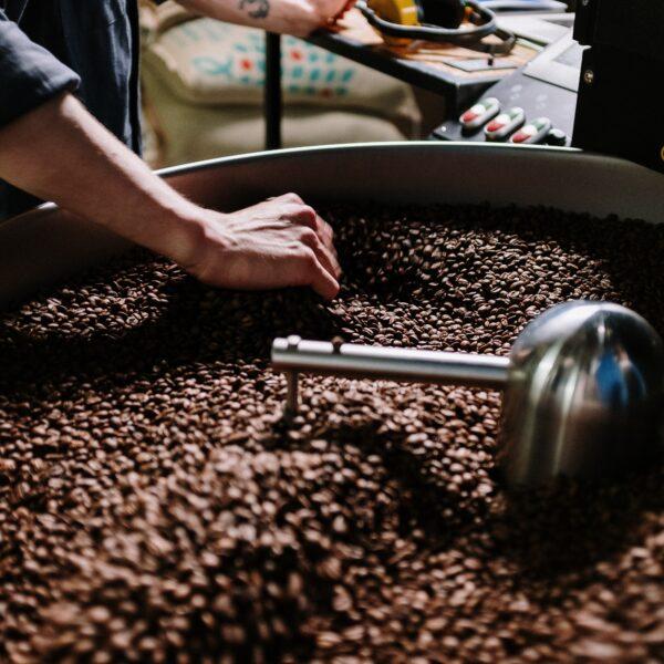 brandproces koffie